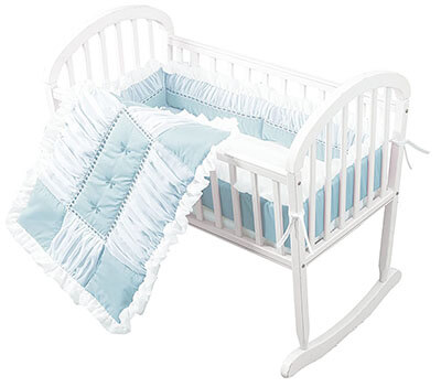 Sweet Touch Baby 3 Piece Cradle Bedding Set by Baby Doll