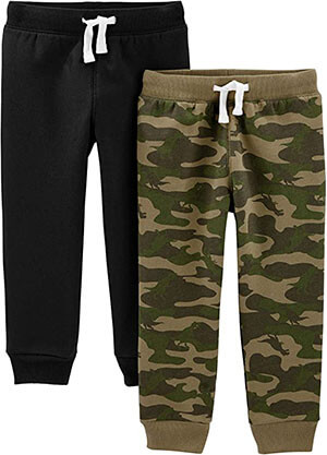 2-Pack Pull-on Fleece Pants Carter's Toddler Boys by Simple Joys
