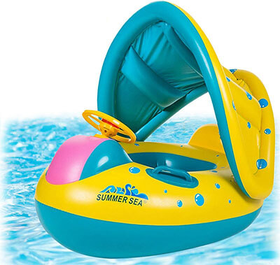 Punada Inflatable Baby Pool Float with Canopy