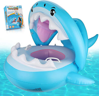 Ayeboovi Baby Pool Float with Canopy