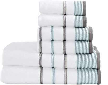 Great Bay Home Turkish Cotton Striped Bath Towels