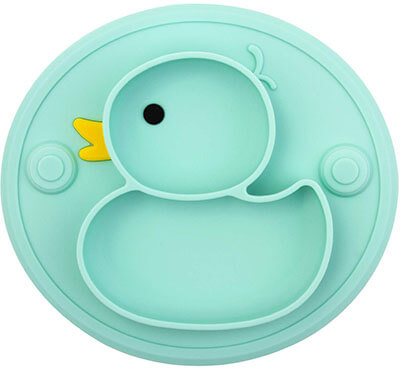 NOVOS Silicone Divided Toddler Baby Plate