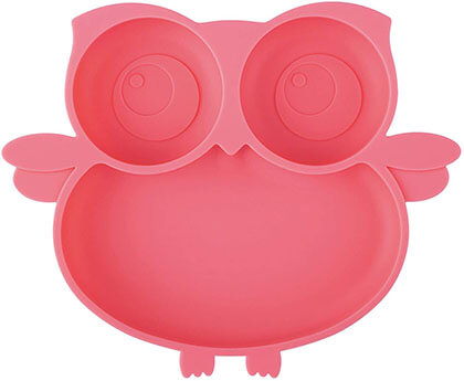Kirecoo Owl Toddlers Suction Silicone Plate