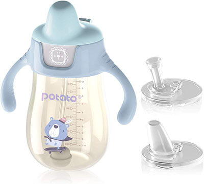 POTATO Sippy Cups for Toddlers with Spill-Proof Straw