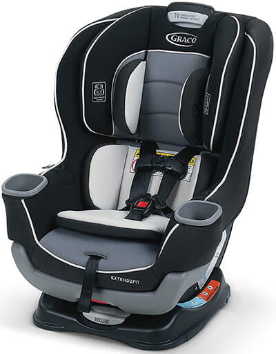 Graco Extend2Fit Convertible Baby Car Seat